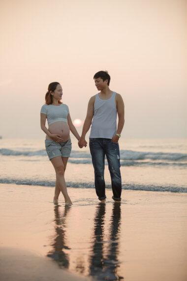 公園孕婦,孕婦寫真,孕婦攝影,新月沙灣,時尚孕婦,海邊孕婦,稻田孕婦